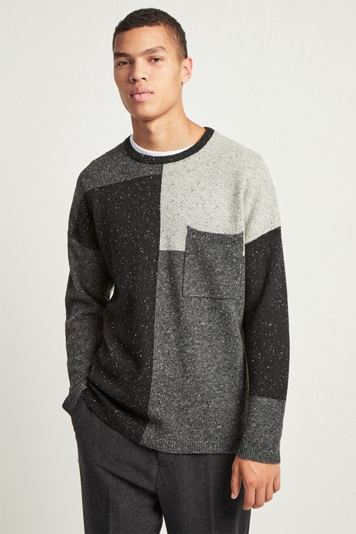 Complete the Look Patchwork Donegal Knit Jumper