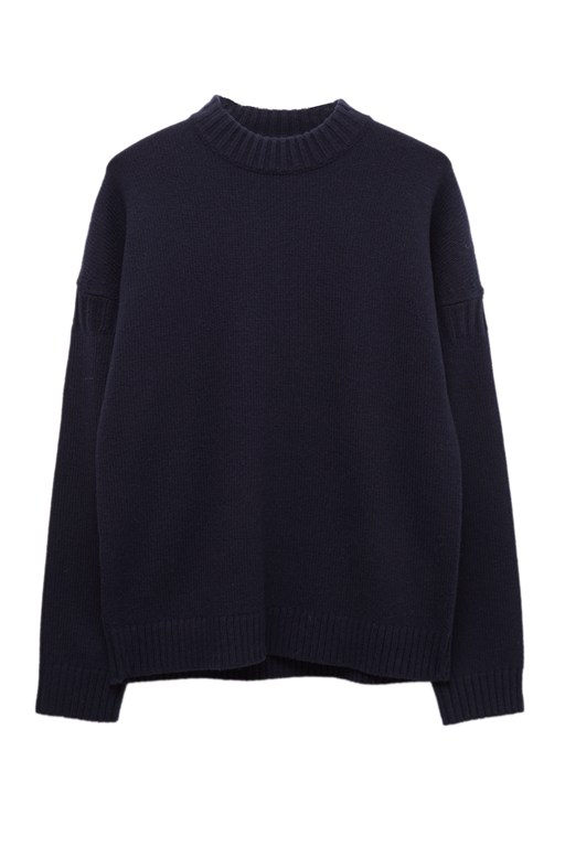 Complete the Look Fisherman Wool Crew Neck Jumper
