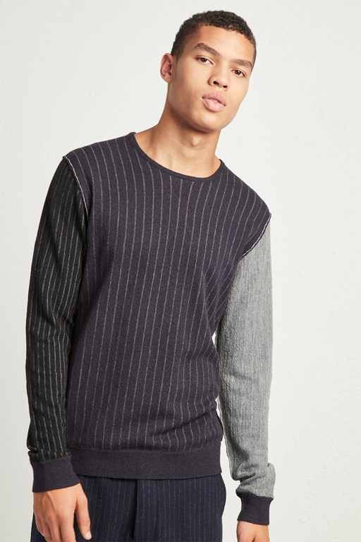 boiled pinstripe jumper