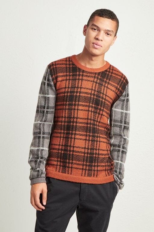 superfine mohair check jumper