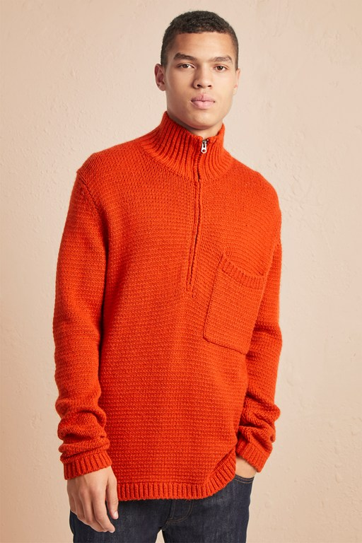 Complete the Look Loose Alpaca Wool Half-Zip Jumper