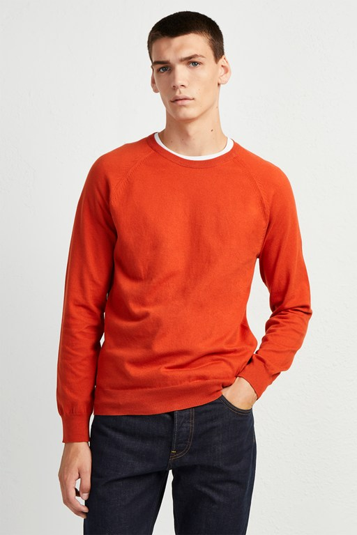 b5d0df084521e stretch cotton crew neck jumper