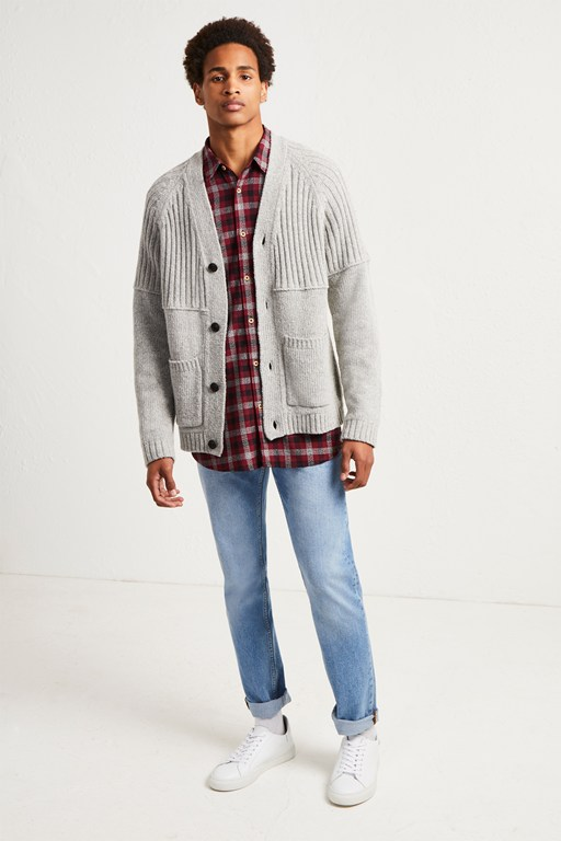 cotton wool split cardigan