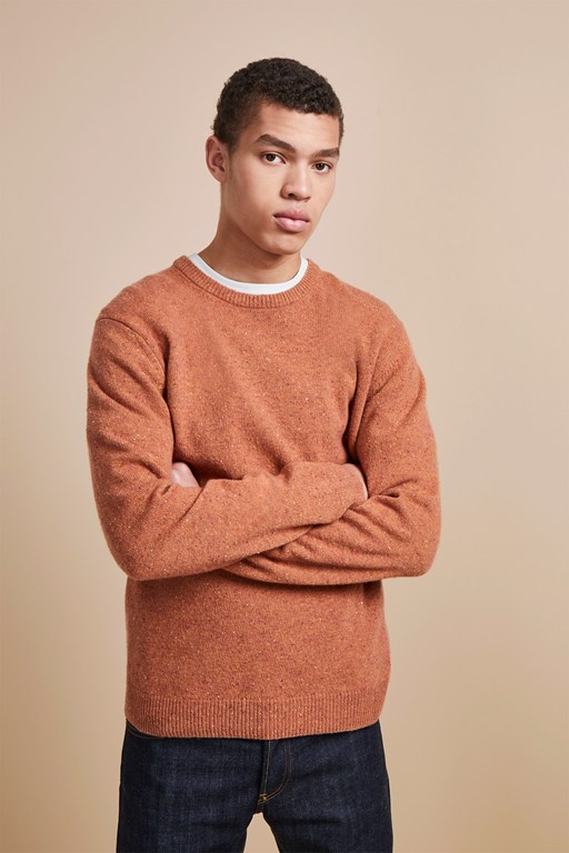 simple donegal crew neck jumper