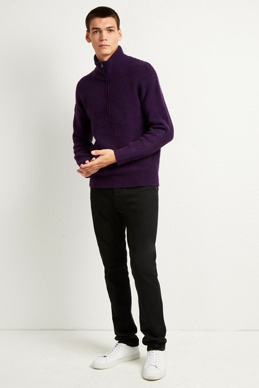 stretch pile knit jumper