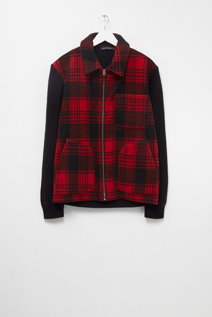 Hunting Check Hybrid Zip Jumper