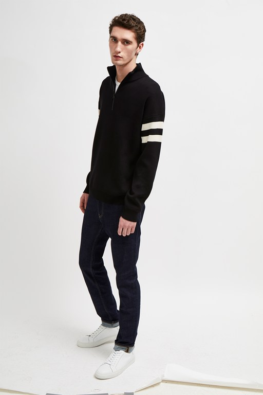lakra knit quarter zip jumper