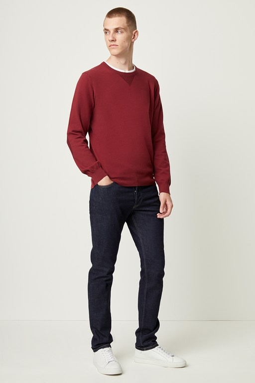 Complete the Look Stretch Cotton Crew Neck Jumper