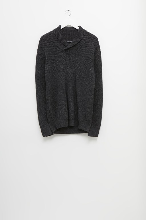 cotton marl shawl collar jumper