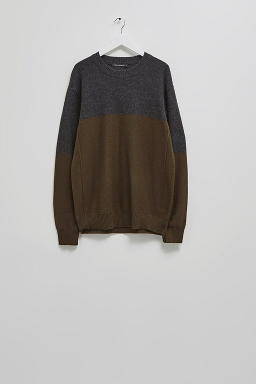 Complete the Look Felted Colour Block Jumper