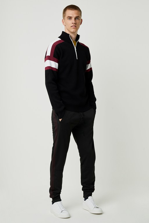 lakra knit half zip jumper