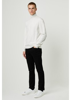 Stretch Cotton Roll Neck