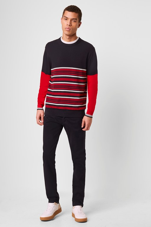 Complete the Look Auderley Stripe Block Jumper