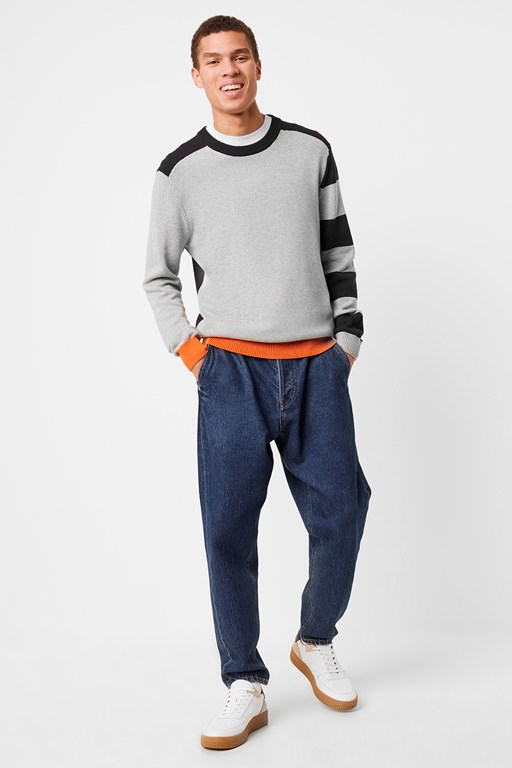 auderley colour block jumper
