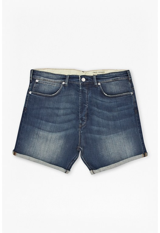 Track Denim Shorts