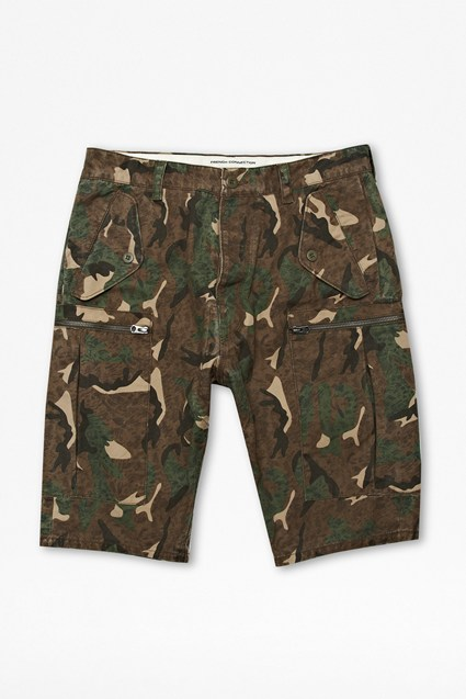 Painted Camouflage Shorts