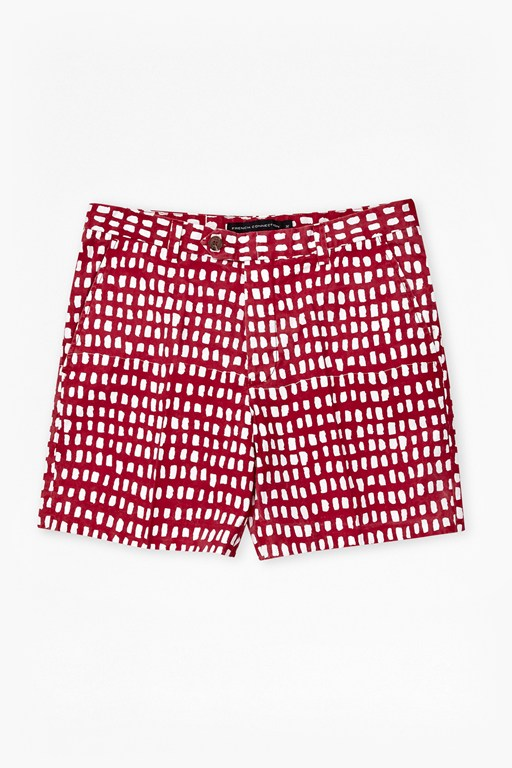 Painted Grid Shorts