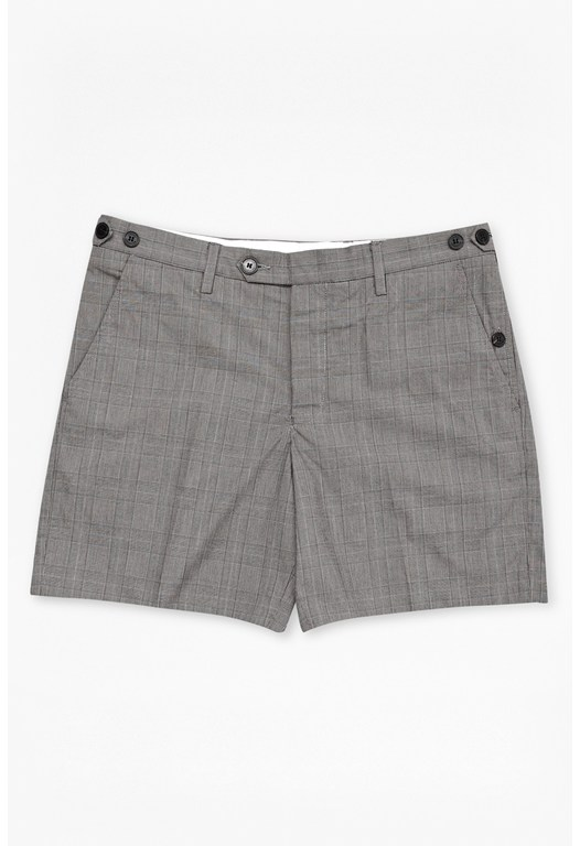Prince Of Wales Cotton Shorts