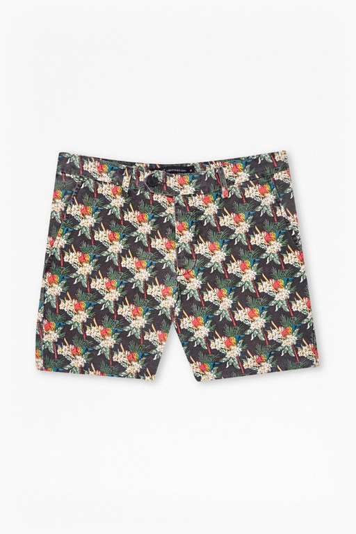 Complete the Look Tropical Parrot Canvas Shorts