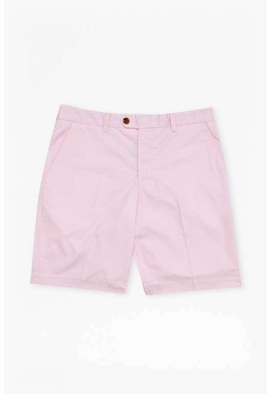Peach Pie Twill Cotton Shorts