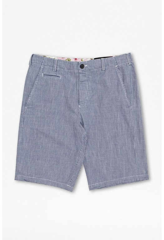 Washed Gingham Shorts