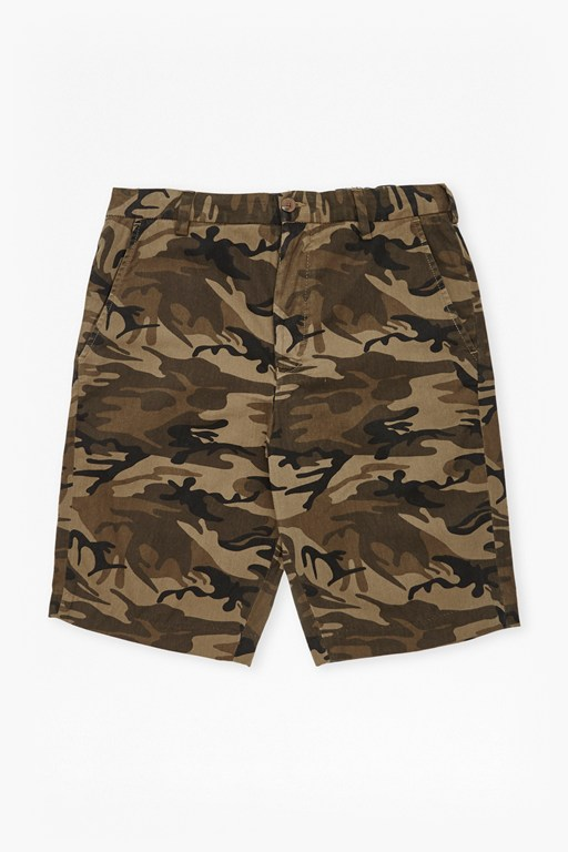 camo lightweight cotton shorts