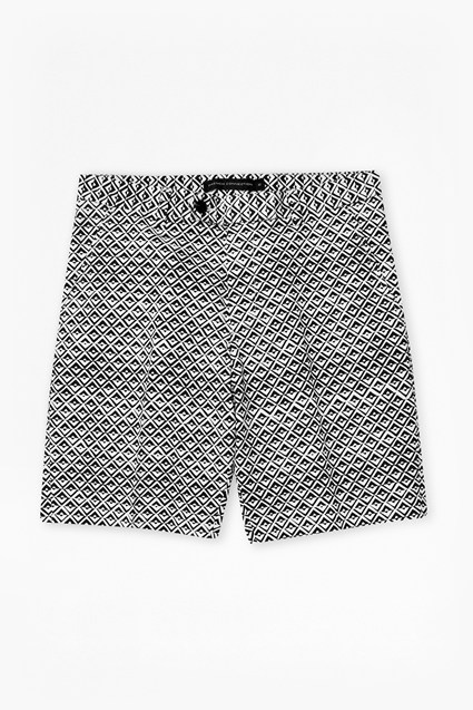 Gouache Diamond Print Shorts