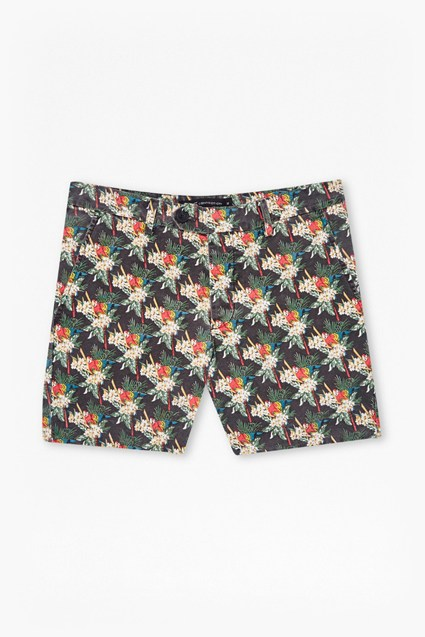 Tropical Parrot Canvas Shorts