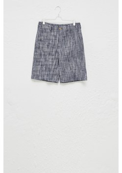 Linen Chambray Gingham Shorts