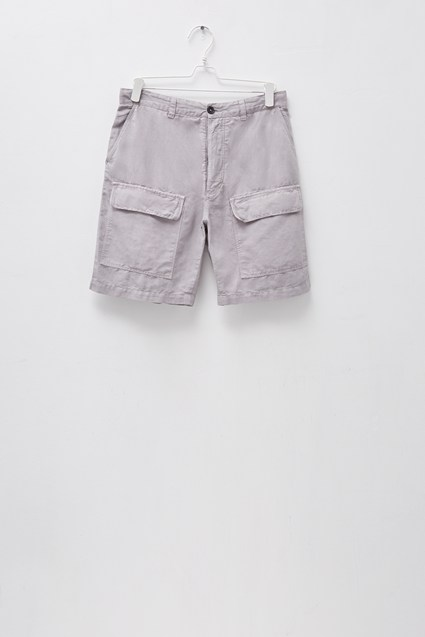 Garment Dyed Cotton Linen Shorts