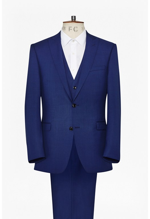 Bright Blue Three Piece Suit