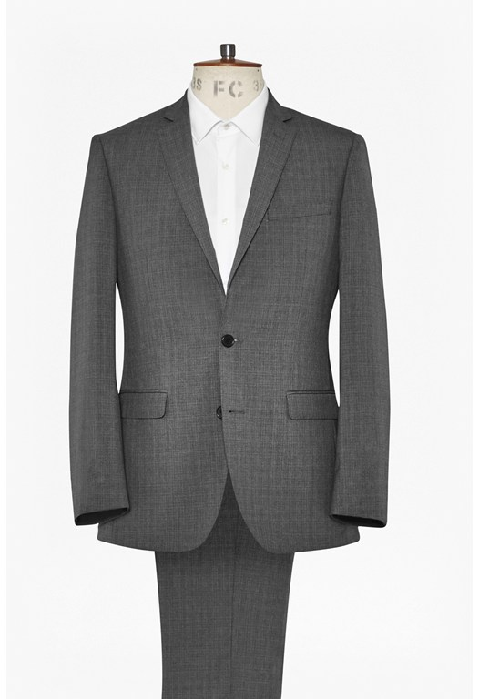 Grey Textured Suit