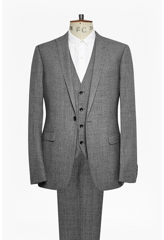 Textured Three Piece Suit