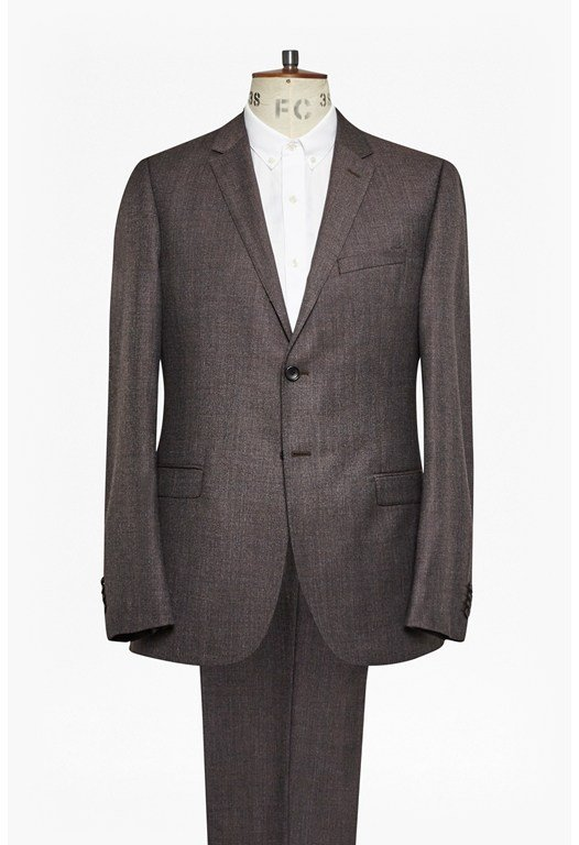 Plain Brown 2 Piece Suit