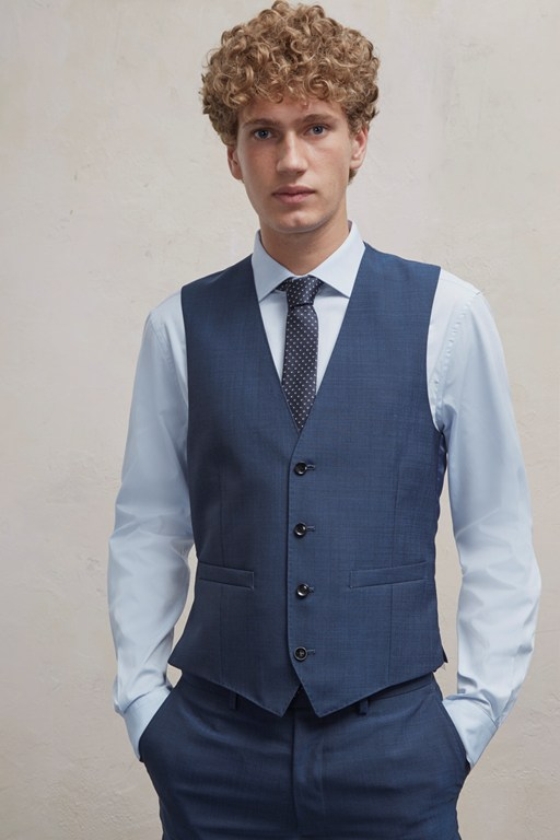 Complete the Look Blue/Black Waistcoat
