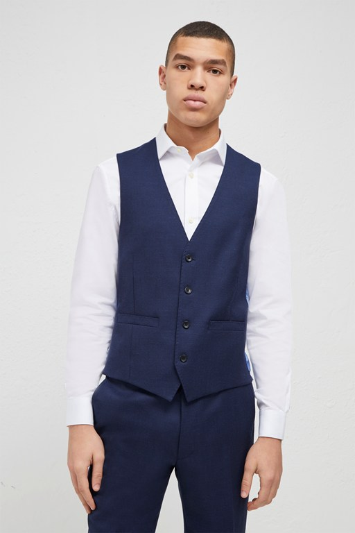 bright blue milled waistcoat
