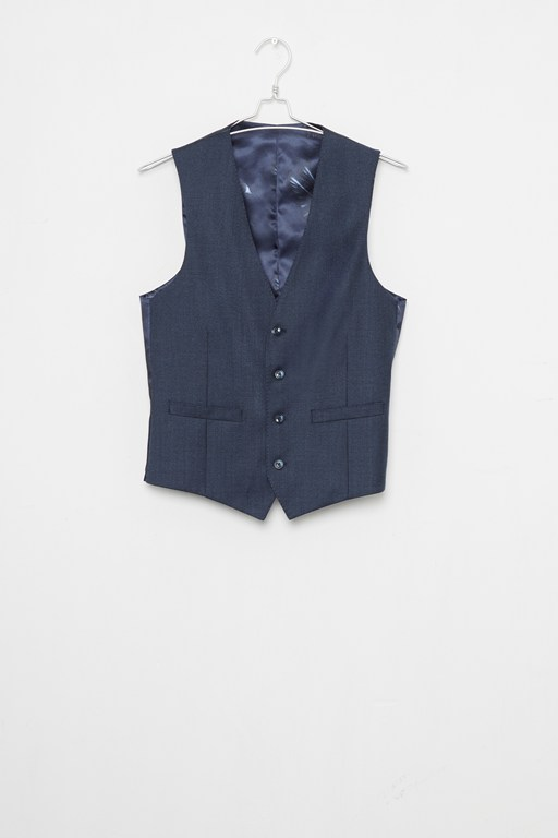 Complete the Look Blue Dogtooth Waistcoat