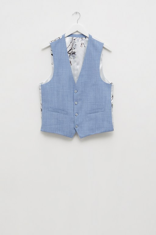 Complete the Look Sky Blue Marl Suit Waistcoat