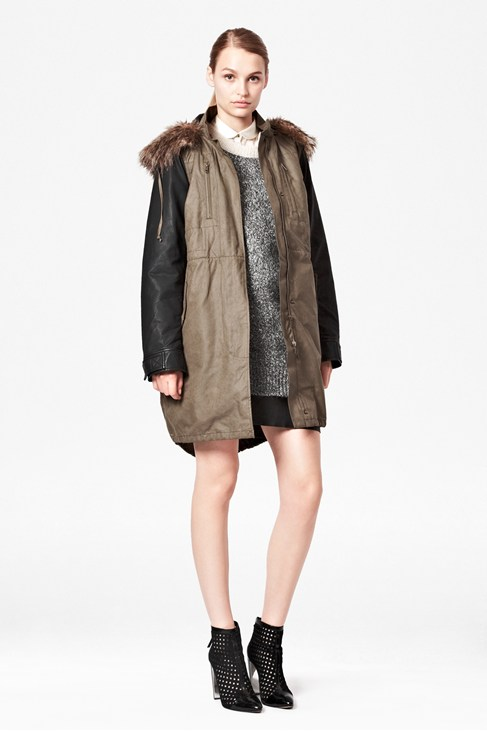 Military Parade Parka Coat