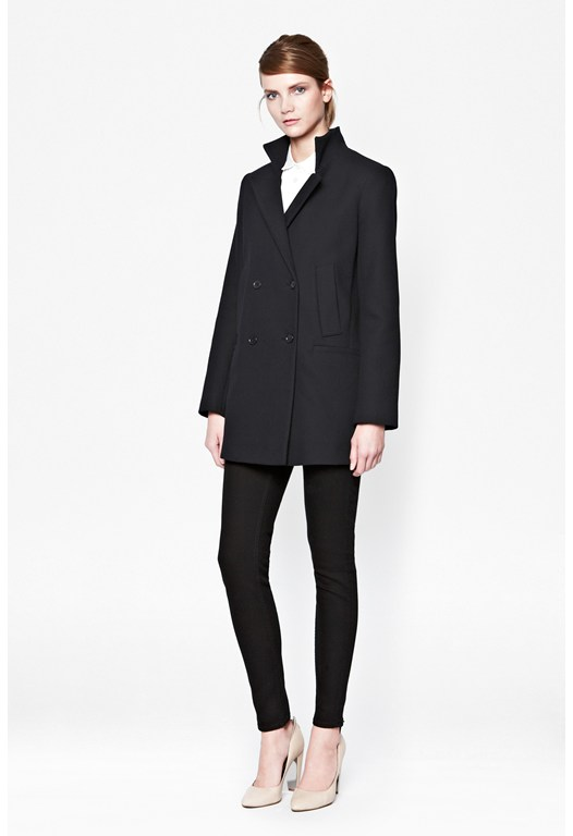 Nico Double Breasted Wool Coat