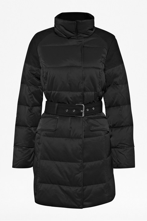 Military Quilted Down Coat
