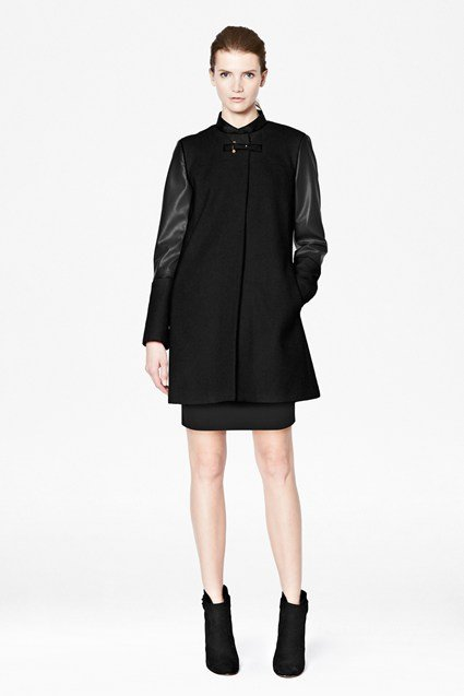 Sophie Coating Collarless Coat