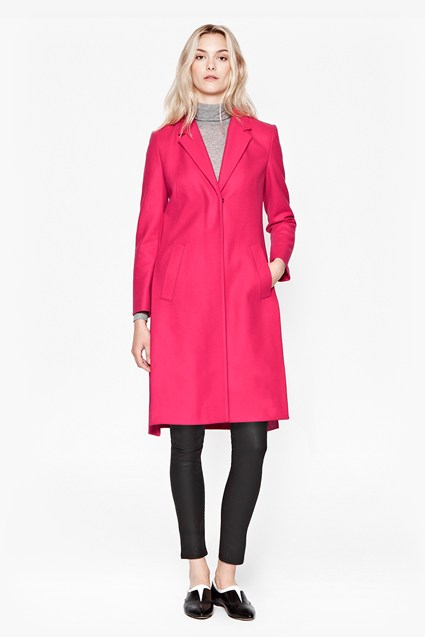 Platform Felt Fitted Coat