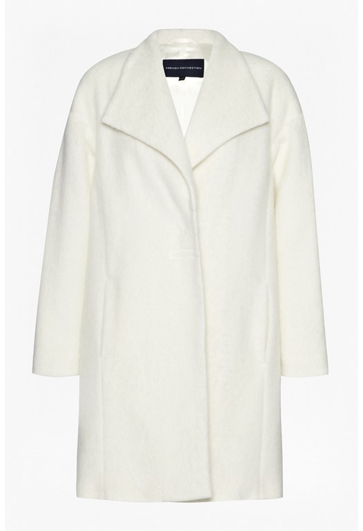 White Smart Winter Coat - French Connection