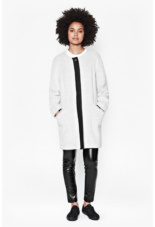 Alexandra Collarless Coat