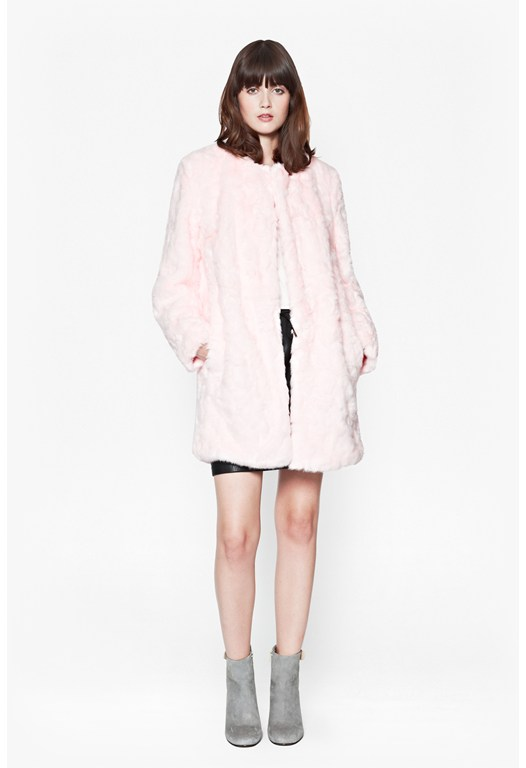 Polar Teddy Collarless Coat