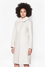 Looks Great With Platform Felt Fur Collar Coat