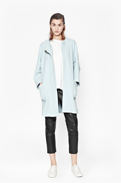 Imperial Wool Collarless Coat