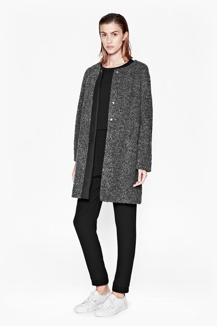 Esc Alexandra Coating Collarless Coat