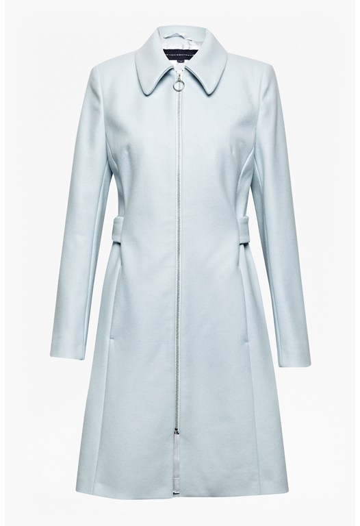 Divine Wool Zip-Up Coat